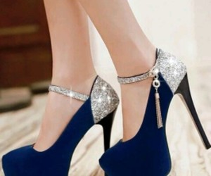 blue, high, and heels image