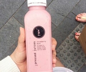food, pink, and drink image