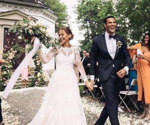 beauty, wedding, and wedding dress image