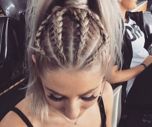 beauty, ponytail, and braid image