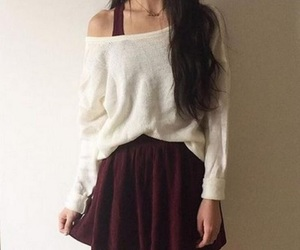 skirt, outfit, and white image