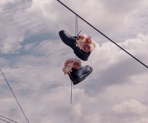 flowers, sky, and shoes image