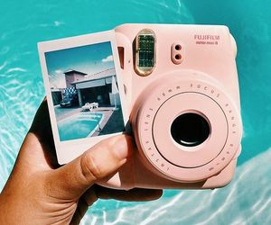 fujifilm, polaroid, and pool image