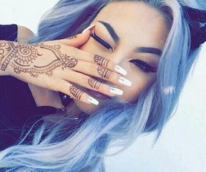 grey, haïr, and henna image