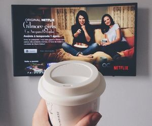 coffee, gilmore girls, and tv image