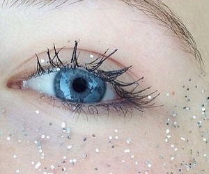 blue, silver, and eye image