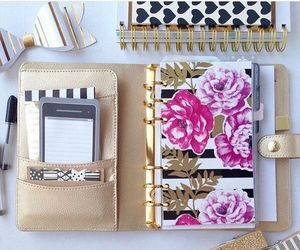 pink and planner image