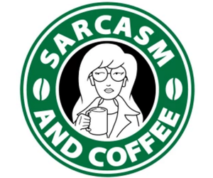 90's, coffee, and sarcasm image