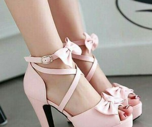 bows, pink, and shoes image