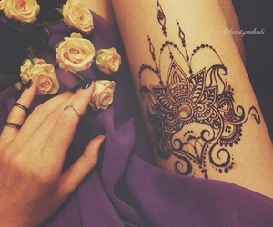 mehndi, tattoo, and henna image