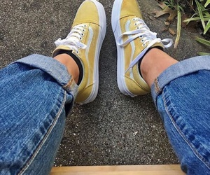 vans, tumblr, and yellow image