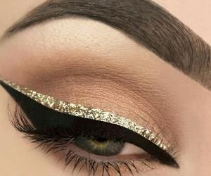 eye, trendy, and glitter image