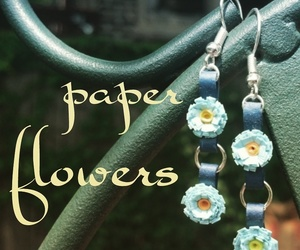 EcoFashion, paper flower, and paper quilling image