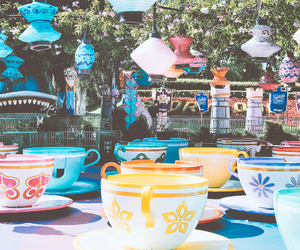 disney, disneyland, and mad tea party image