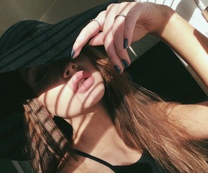black, girl, and brune image