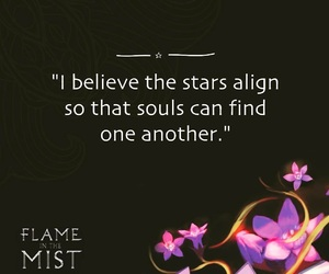 book quote and flame in the mist image