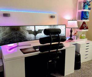 Computer Desk, decor, and decoration image