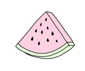 watermelon, pink, and overlay image