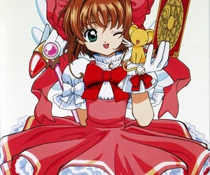 anime, sakura, and sakura card captor image