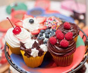 cupcake, food, and berries image