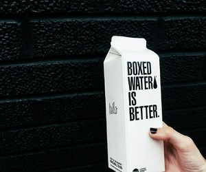 black, boxedwater, and goals image