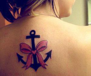 anchor, bow, and tattoo image