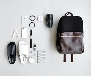accessories, bag, and men image