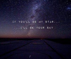 sky, stars, and love image