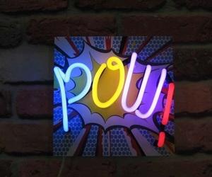 light, neon, and pow image