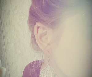 brunette, ear, and helix image