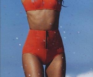 bikini, summer, and red image