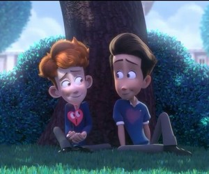love, boy, and in a heartbeat image