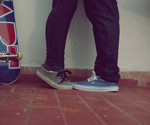 vans, couple, and skate image