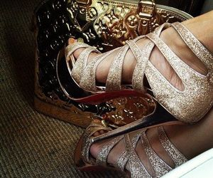 high heels, shoes sandals, and zapatos  image