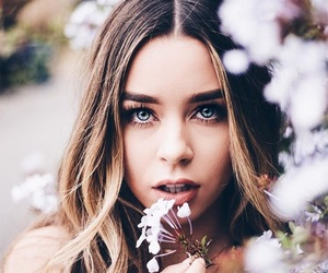 sierra furtado, flowers, and hair image