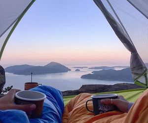 camping, mountains, and travel image