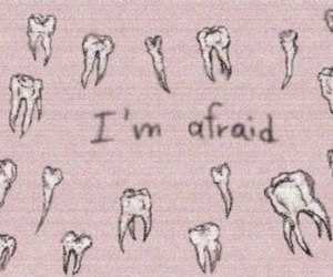 afraid, pale pink, and tooth fairy image