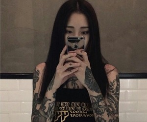 girl, ulzzang, and tattoo image