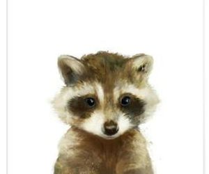 art, raccoon, and draw image