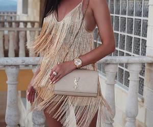 dress, fashion, and YSL image