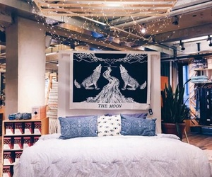 bedroom, decor, and fairy lights image