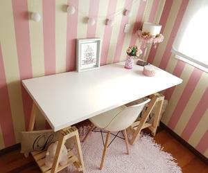 bedroom, desk, and girls image