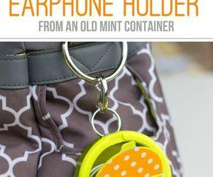 diy, earphones, and holder image