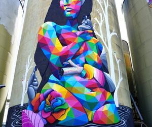 art, street, and okuda image