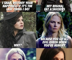 once upon a time, funny, and regina image
