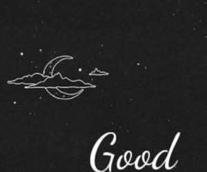 good night, moon, and stars image