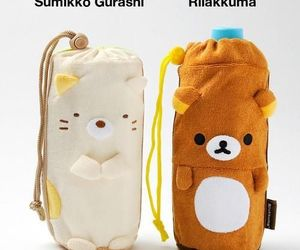 kawaii, rilakkuma, and botellas image
