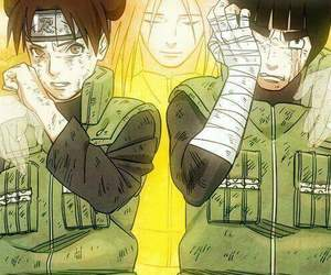 neji, naruto, and rock lee image