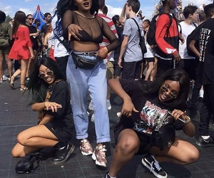 girl, squad, and black girls image