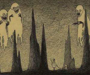 arte, horror, and arbol image